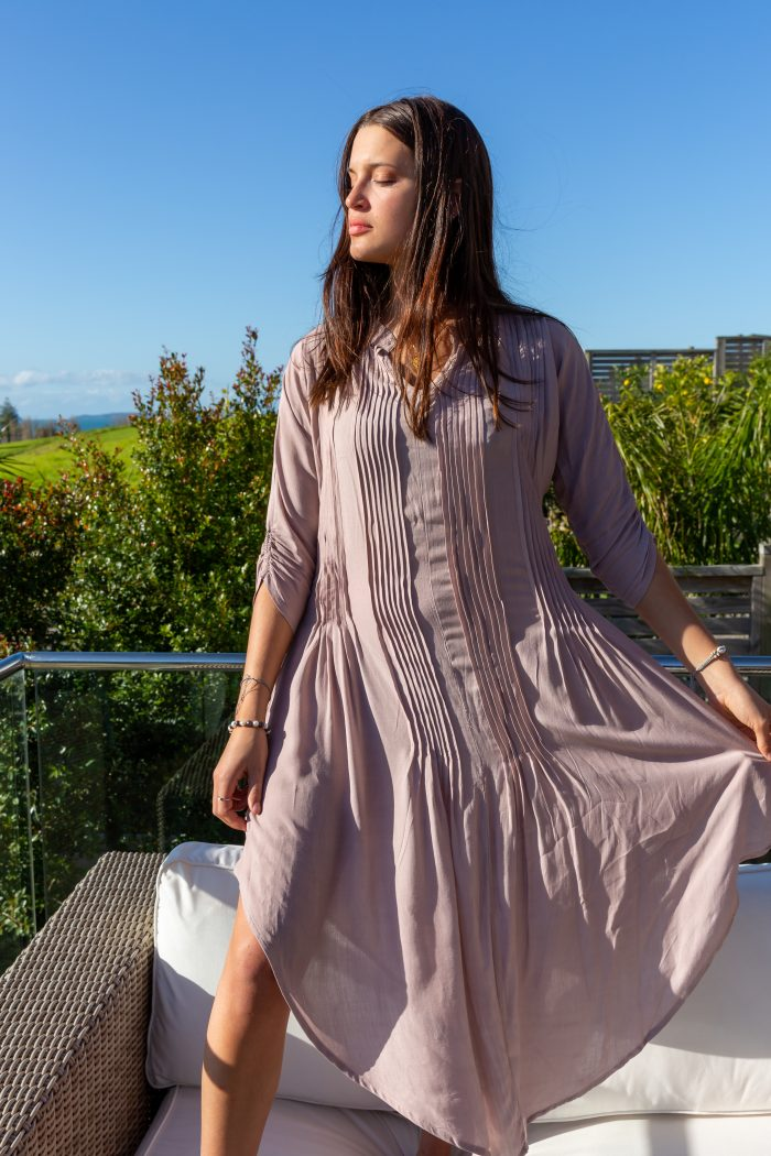 Coco Sand boutique dress, Long Bay in Auckland